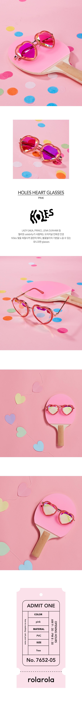 로라로라(ROLAROLA) (S-0006)HOLES HEART GLASSES PINK