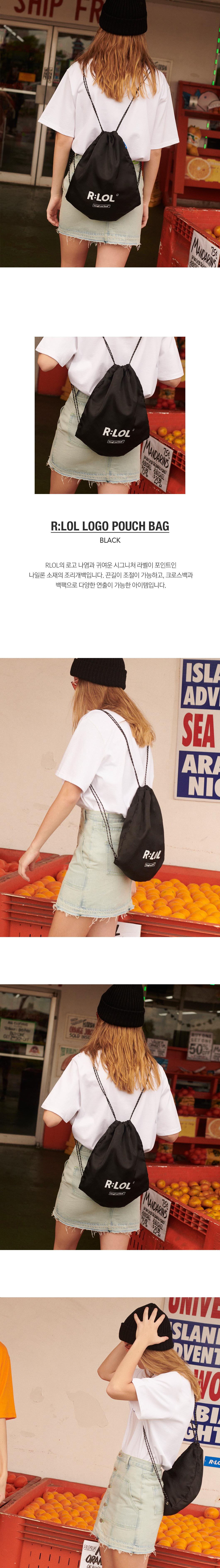 로라로라(ROLAROLA) [RLOL] (BG-19309) RLOL LOGO POUCH BAG BLACK