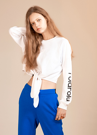 KNOTTED CROP SWEAT_WHITE
