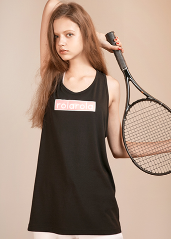 PINKBOX LOOSE FIT SLEEVELESS_BLACK