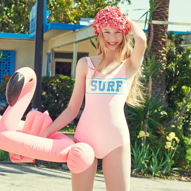 SURF ONEPIECE SWIMSUIT_PINK