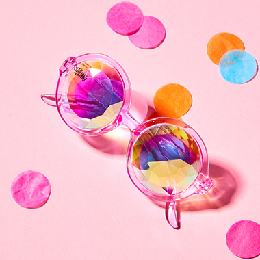 H0LES KALEIDOSCOPE GLASSES_PINK