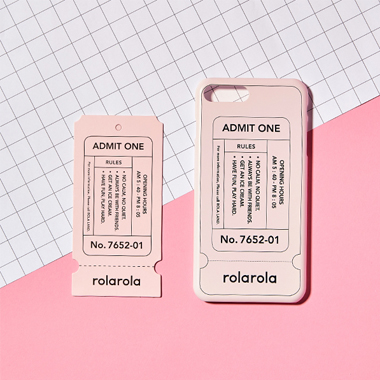 TICKET PHONE CASE_INDY PINK