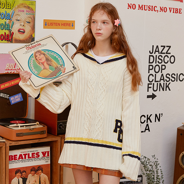 (TS-0064)SAILOR KNIT IVORY