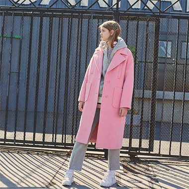 (CT-0001)TAPE COAT PINK