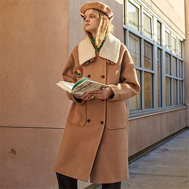 (CT-0002)PREPPIE COAT CAMEL