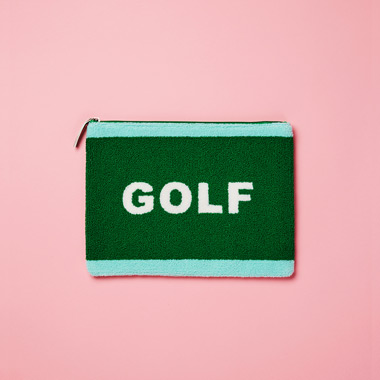 (BG-17701)ROLA GOLF BOUCLE CLUTCH GREEN