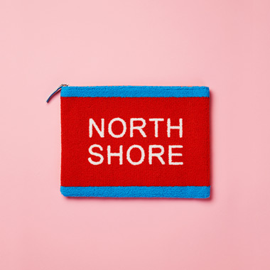 (BG-17701)ROLA NORTH SHORE BOUCLE CLUTCH ORANGE
