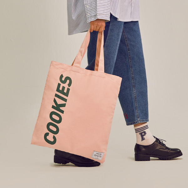 (BG-18104)ROLA COOKIES ECO BAG PINK