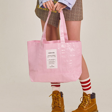 (B-0011)TARPAULIN SHOPPER BAG PINK