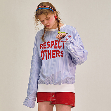 (TS-18104)ROLA RESPECT OTHERS CREWNECK BLUE
