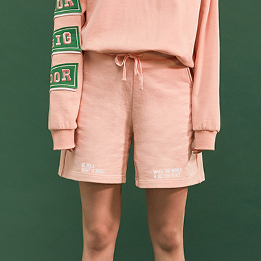 (PT-18101)ROLA COTTON SHORT PANTS PINK