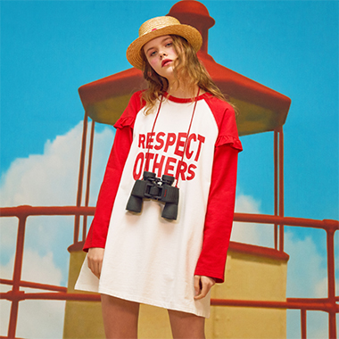 (OP-18104)ROLA RESPECT OTHERS ONEPIECE RED