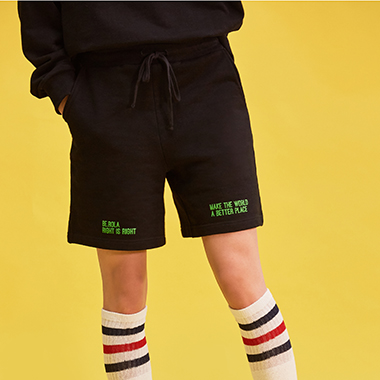 (PT-18101)ROLA COTTON SHORT PANTS BLACK