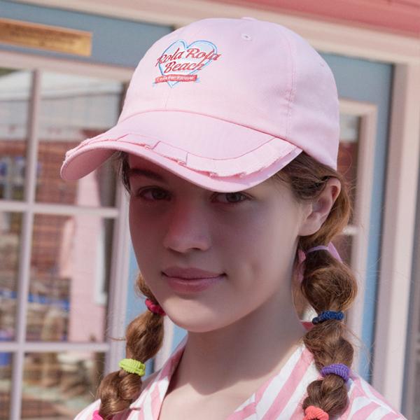 (CH-18301)ROLA FRILL CAP PINK