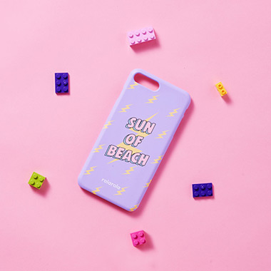 (PC-18302)SUN OF BEACH PHONE CASE LAVENDER