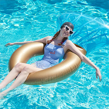 (SG-18302)BLING RING POOL FLOAT MULTI