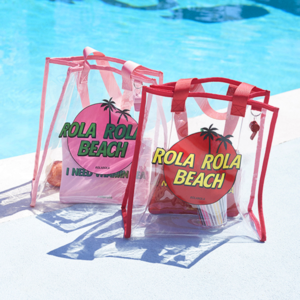 (BG-18303)ROLA BEACH BAG PINK