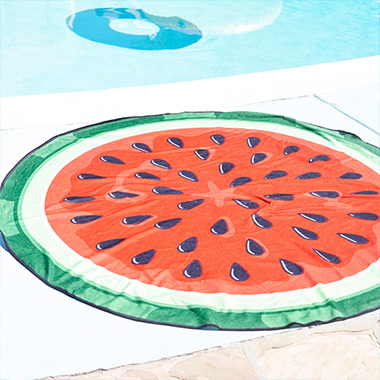 (SG-18303)WATERMELON BEACH BLANKET RED