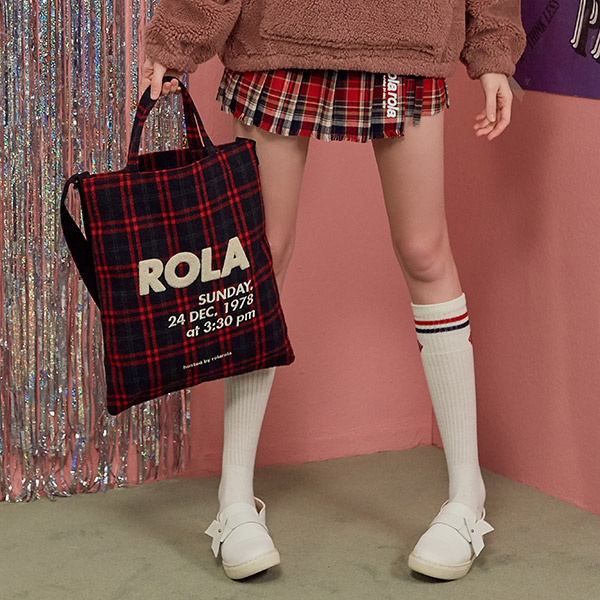 (BG-18706) ROLA CHECK CROSS BAG NAVY