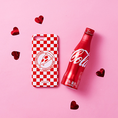 (PC-18503) CHECK PIZZA PHONE CASE RED