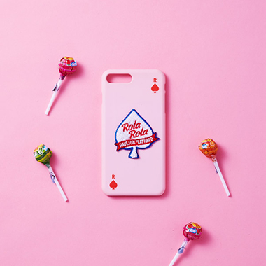 (PC-18704) BOUCLE SPADE ROLA PHONE CASE PINK