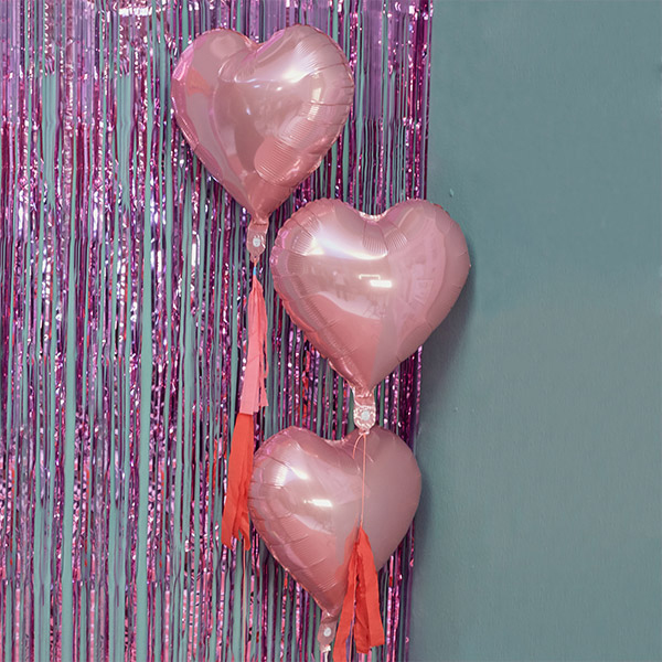 (LV-18714) HEART BALLOON KIT PINK