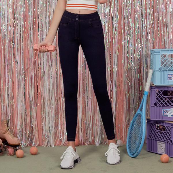 (PT-18556) HIGH WAIST LEGGINGS PANTS NAVY