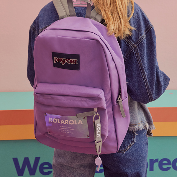 (BG-19101)ROLAROLA X JANSPORT BACKPACK VIVID LILAC