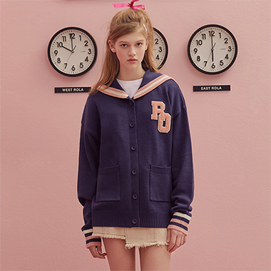 (CD-19132) SAILOR CARDIGAN NAVY