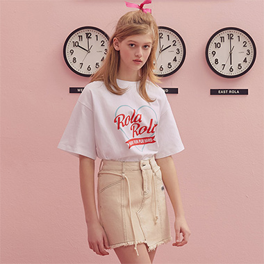 (TS-19305) ROLA HEART T-SHIRT WHITE