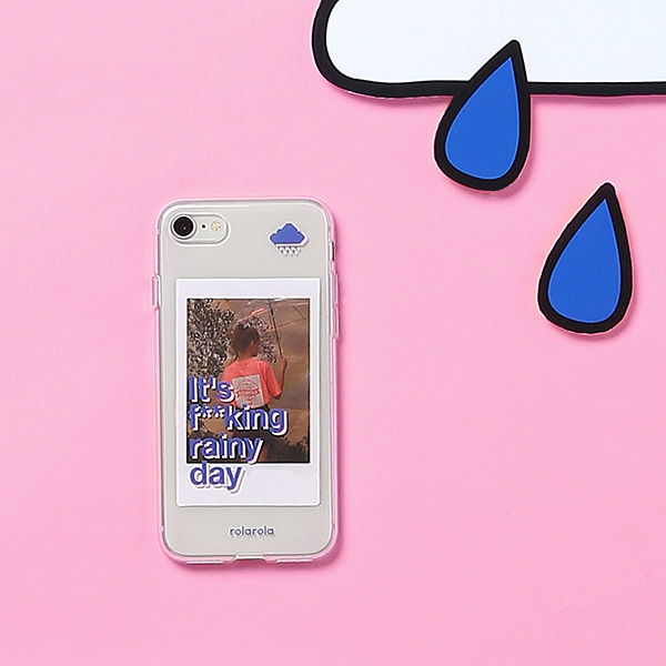 (PC-19301) RAINY DAY JELLY PHONE CASE BLUE