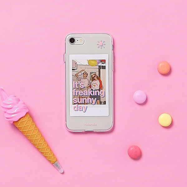 (PC-19301) SUNNY DAY JELLY PHONE CASE PINK