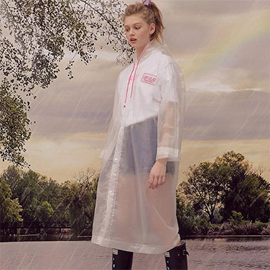 (LV-19305) ROLA CLEAR RAINCOAT PINK