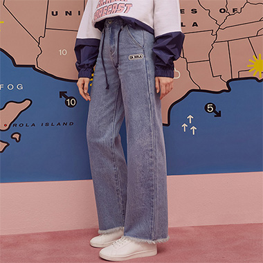 (PT-19143) WIDE DENIM PANTS BLUE