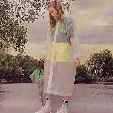 (LV-19305) ROLA CLEAR RAINCOAT LIME