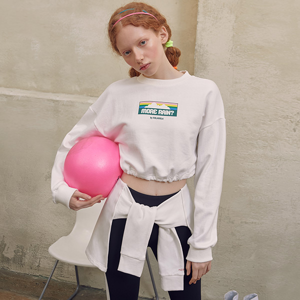 (TS-19152) MORE RAIN CROP T-SHIRT WHITE