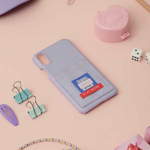 (PC-19344) ROLAROLA X FENNEC CARD PHONE CASE LAVENDER