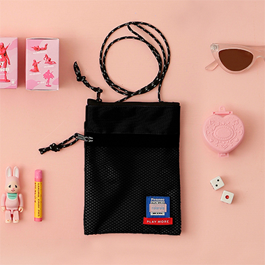(BG-19341) ROLAROLA X FENNEC MINI BAG BLACK