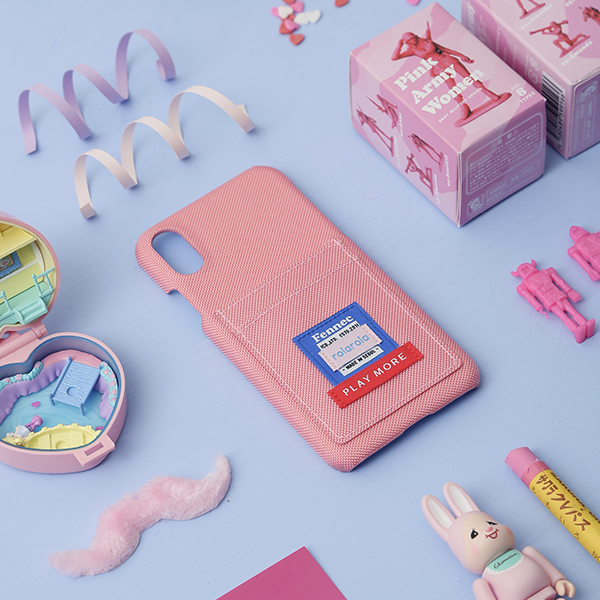 (PC-19344) ROLAROLA X FENNEC CARD PHONE CASE PINK