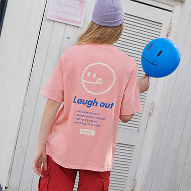 (TS-19305) R:LOL SMILE T-SHIRT PINK
