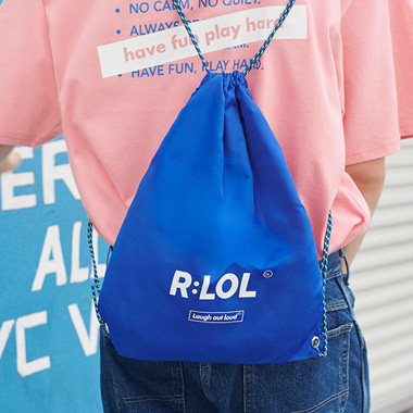 (BG-19309) R:LOL LOGO POUCH BAG BLUE