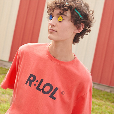 (TS-19303) R:LOL BASIC T-SHIRT CORAL