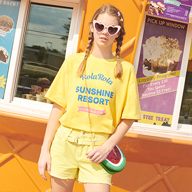 (TS-19331) SUNSHINE RESORT T-SHIRT LEMON