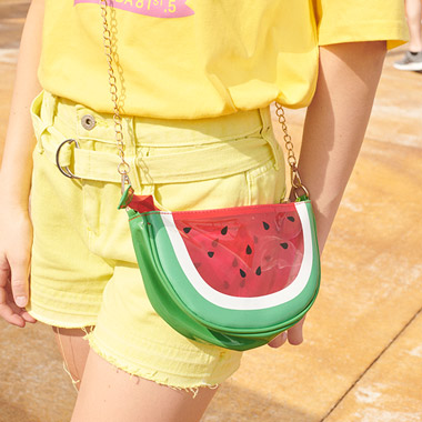 (BG-19314) WATERMELON PVC BAG RED