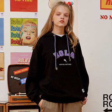 (HD-19523) BOUCLE ROLA HOOD T-SHIRT BLACK