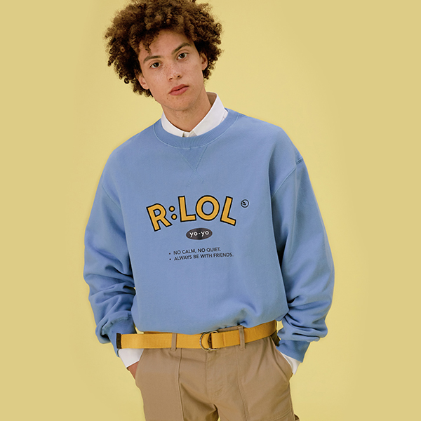 (TS-20101) R:LOL YO-YO SWEATSHIRT LIGHT BLUE