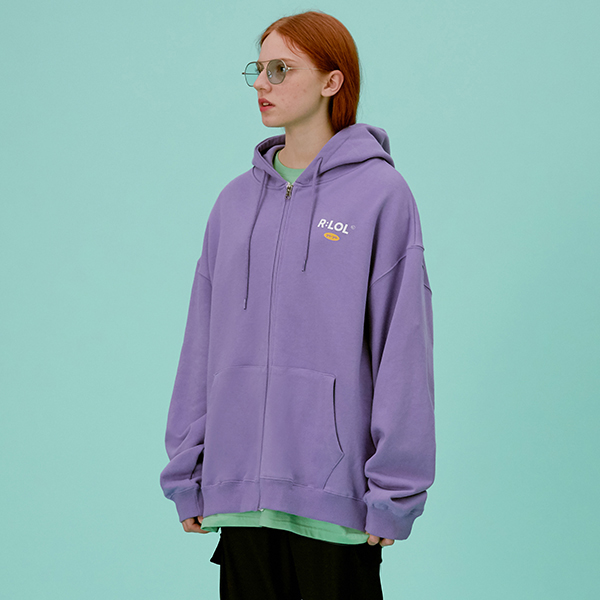 (HZ-20101) R:LOL HOOD ZIP-UP LAVENDER