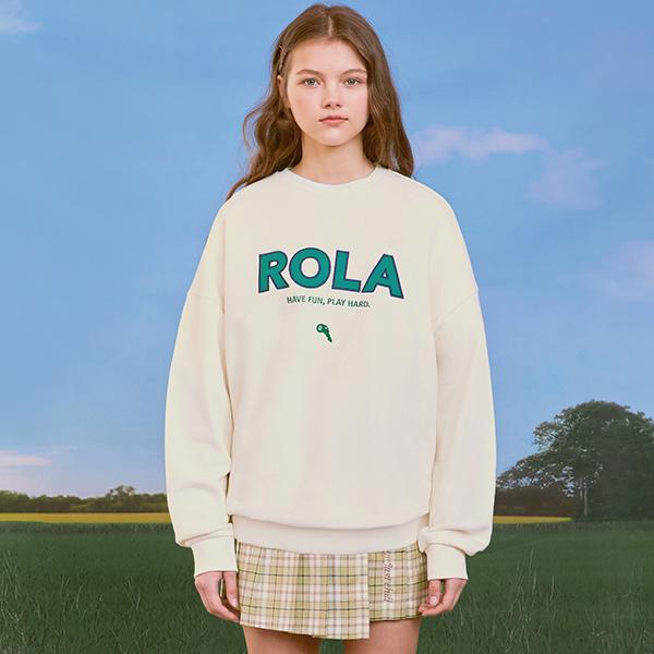 (TS-20102) ROLA SIGNATURE SWEATSHIRT IVORY