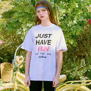 (TS-20153) JUST HAVE FUN T-SHIRT WHITE